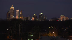Blur to Focus Atlanta Skyline HD Video Stock Footage