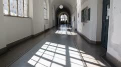 University corridor - stock footage
