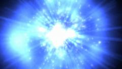 Space Vortex Animated Blue Background Stock Footage