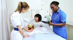 Asian Indian Child Receiving Specialist Paediatric Care - stock footage