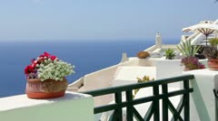 Beautiful Greek architecture Stock Footage
