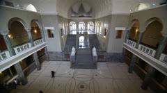 Ludwig Maximilian University of Munich hallway Stock Footage