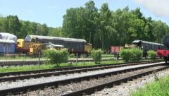Steam train running on a preserver line. Stock Footage