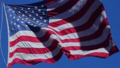 American flag waving slow motion hd Stock Footage