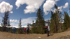 Outdoor photo shoot in the mountains Stock Footage