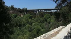 Pasadena bridge arroyo secco Stock Footage