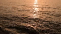 Sea at sunset, texture Stock Footage