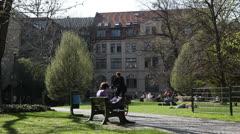 3524 University campus EDITORIAL -Pond5 PhotoJPEG Progressive HD 25p Stock Footage