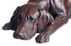 dog figurine - stock photo