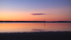 Dusk on the waterway 3, markers, 1500% Stock Footage