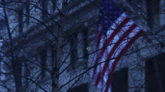 american flag obscured hd - stock footage
