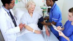Retired Hospital Patient Being Treated Nursing Staff Stock Footage