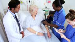 Senior Hospital Patient Specialist Care Stock Footage