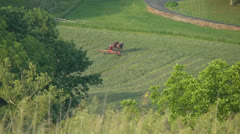 Amish farmer in field - stock footage