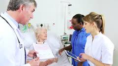 Senior Patient Receiving Specialist Hospital Healthcare - stock footage