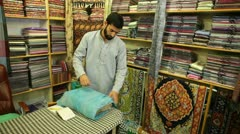 Seller of Pashmina Stock Footage