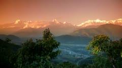 Himalajan Annapurna alue Arkistovideo