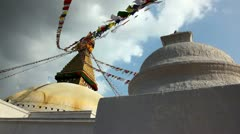 Stupa,Himalayas Stock Footage