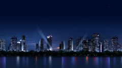 The night scenery of the city_059 Stock Footage