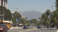 Stock Video Footage of Traffic street in Hollywood downtown, Santa Monica Boulevard, Blvd, LA, Los Ange