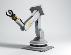 Industrial robotic arm Stock Illustration