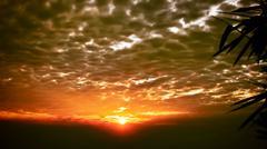 beautifu sunset view of  sky and cloud - stock photo