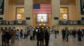 Famous New York City Landmark Grand Central Station Tourists Shoppers Christmas Footage