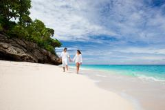 Stock Photo of loving couple on beach