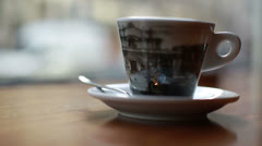 amsterdam coffeeshop cup right - stock footage