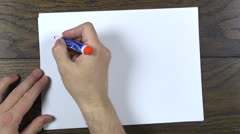 writing i love you - stock footage