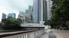 Singapore time lapse of park and business district Stock Footage
