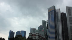 Skyscrapers with stormy clows Stock Footage