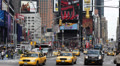 Rush Hour Times Square Manhattan Car Traffic Crowd New York City Yellow Cab Taxi Footage