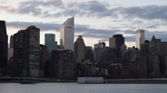New York City Skyline, Citigroup Building, Famous Skyscrapers, East River Stock Footage