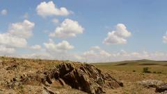 Rocky plateau timelapse - stock footage