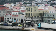 City of Syros island (6) Stock Footage