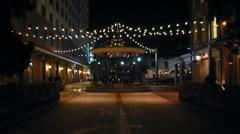 Fulton Street Gazebo Stock Footage