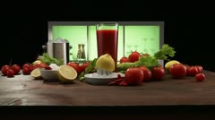 Ingredients for Bloody Mary Stock Footage