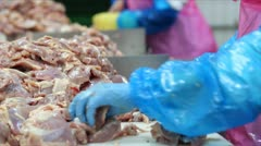 Production of white meat - stock footage