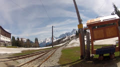 Tramways to the Mont Blanc top Stock Footage