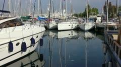 Luxury yachts Stock Footage