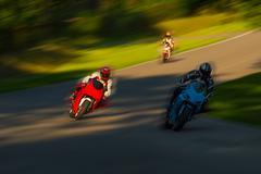 motorbike racing - stock photo