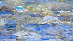 Pet bottle of pure water. Stock Footage