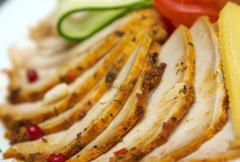 beautiful sliced food arrangement - stock photo