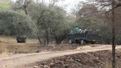India Ranthambhore safari road Stock Footage