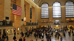 Rush Hour, Busy Commuters and Tourists, Grand Central Terminal Station in NYC Stock Footage