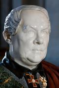 marble bust of the architect au. montferrand - stock photo