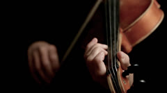 Musician playing violin Stock Footage