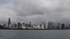 Sears, Willis Tower, Chicago Skyline, Lake Michigan, Storm, John Hancock Center Stock Footage