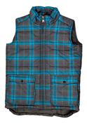 Warm plaid vest Stock Photos